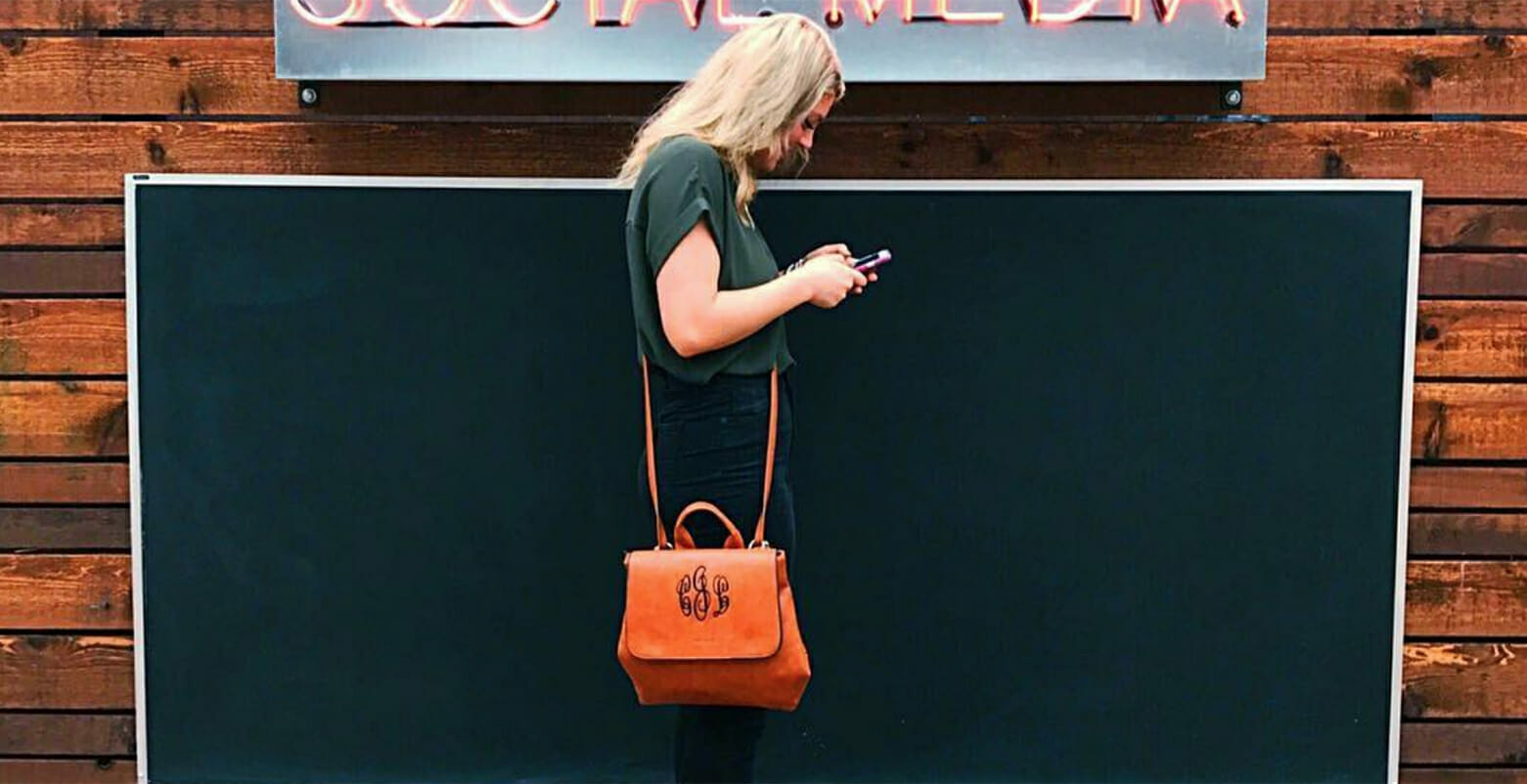 JLL ShopPings courtney on phone