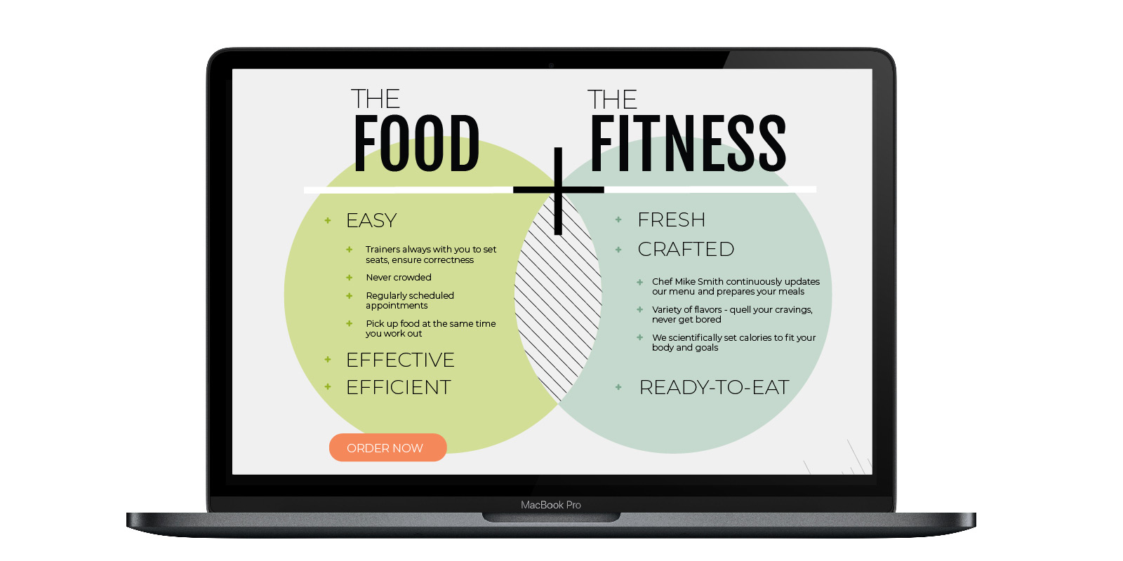 Utopia Food Fitness website